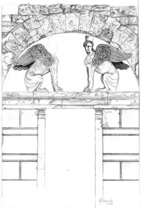 amphipolis tomb.A relevant draft, elaborated from entrance